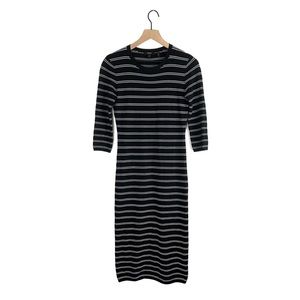 Theory Delissa B Striped Midi Dress